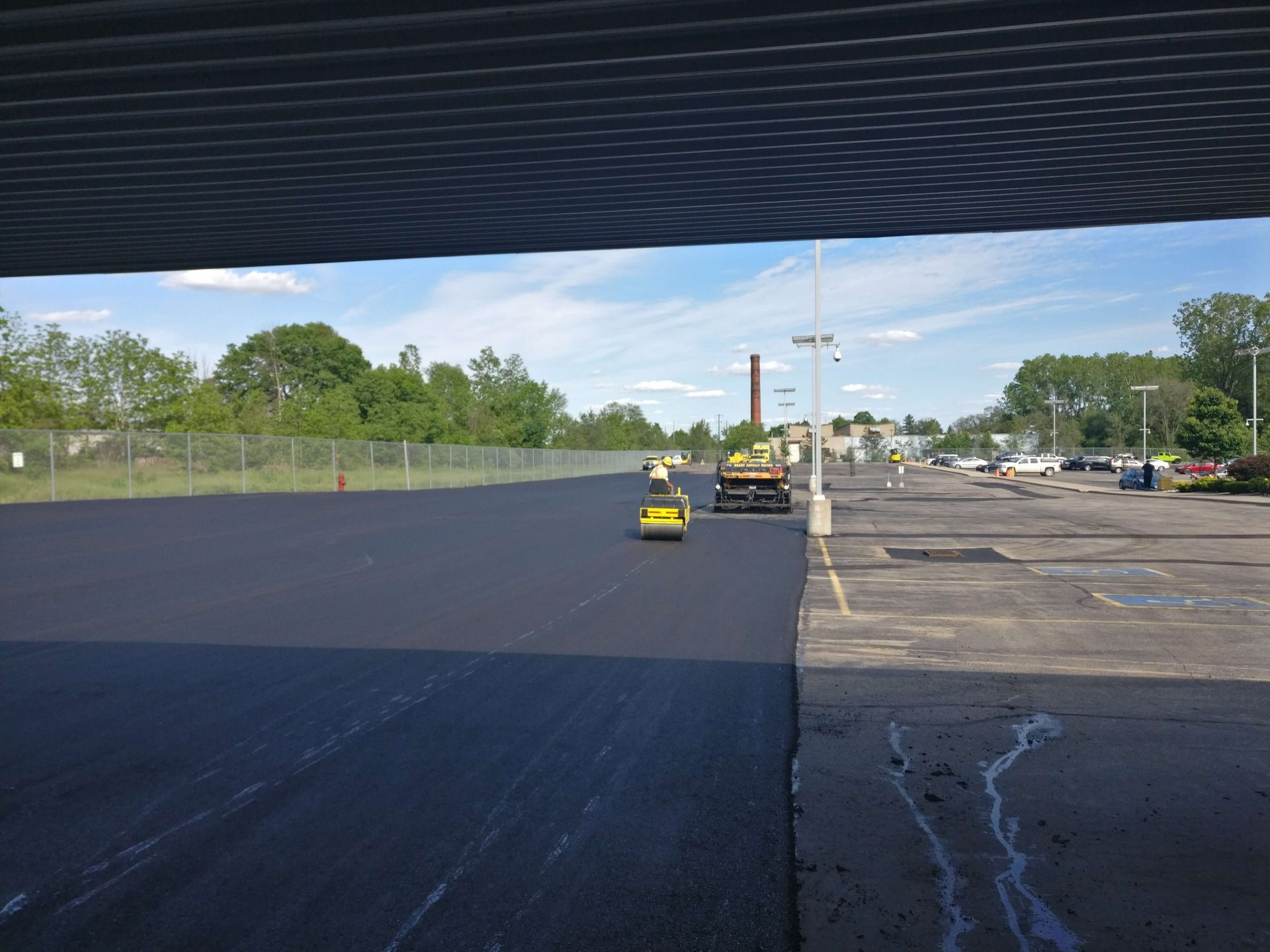 Half-finished parking lot