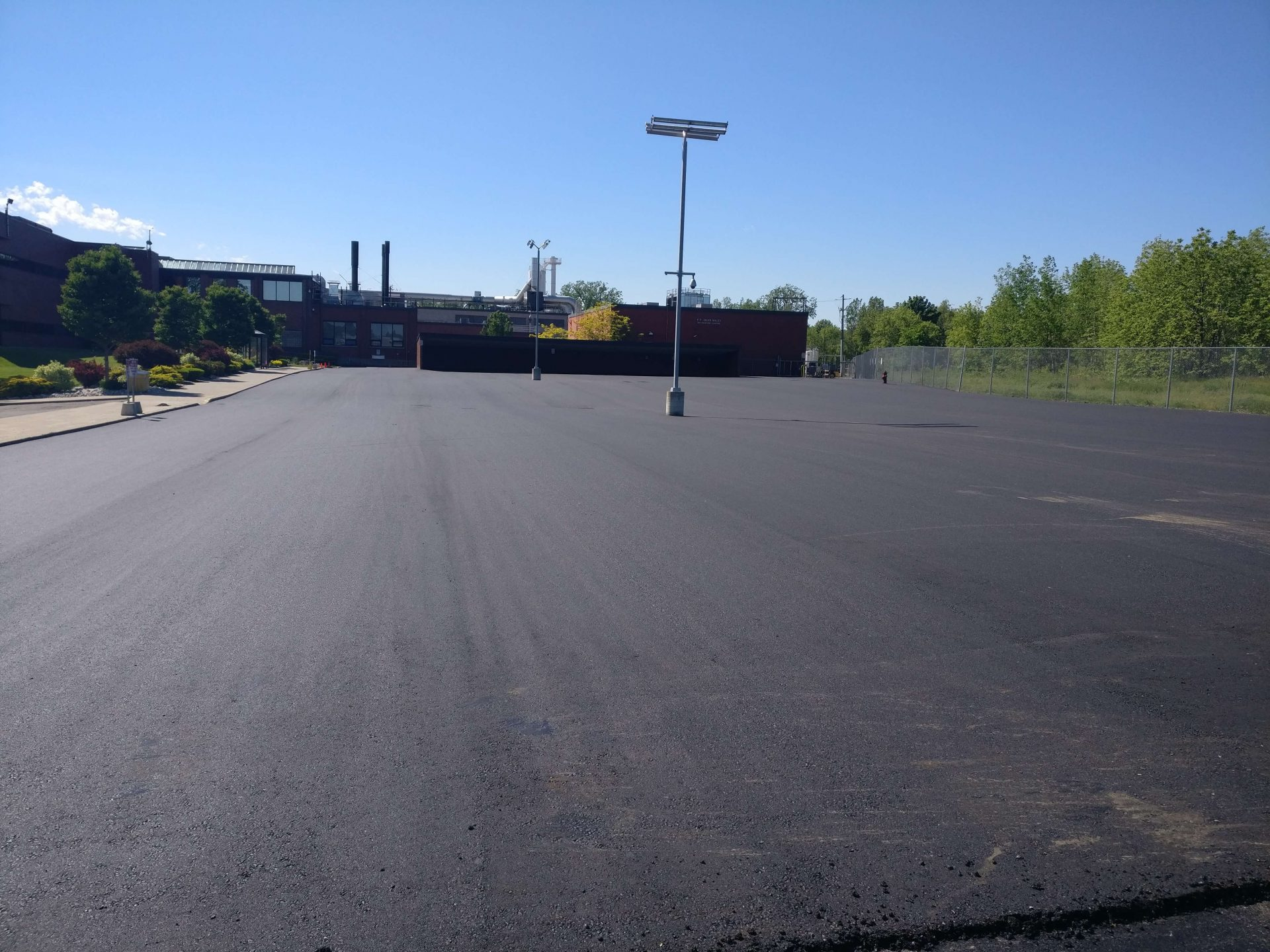 Finished parking lot by Paris Construction