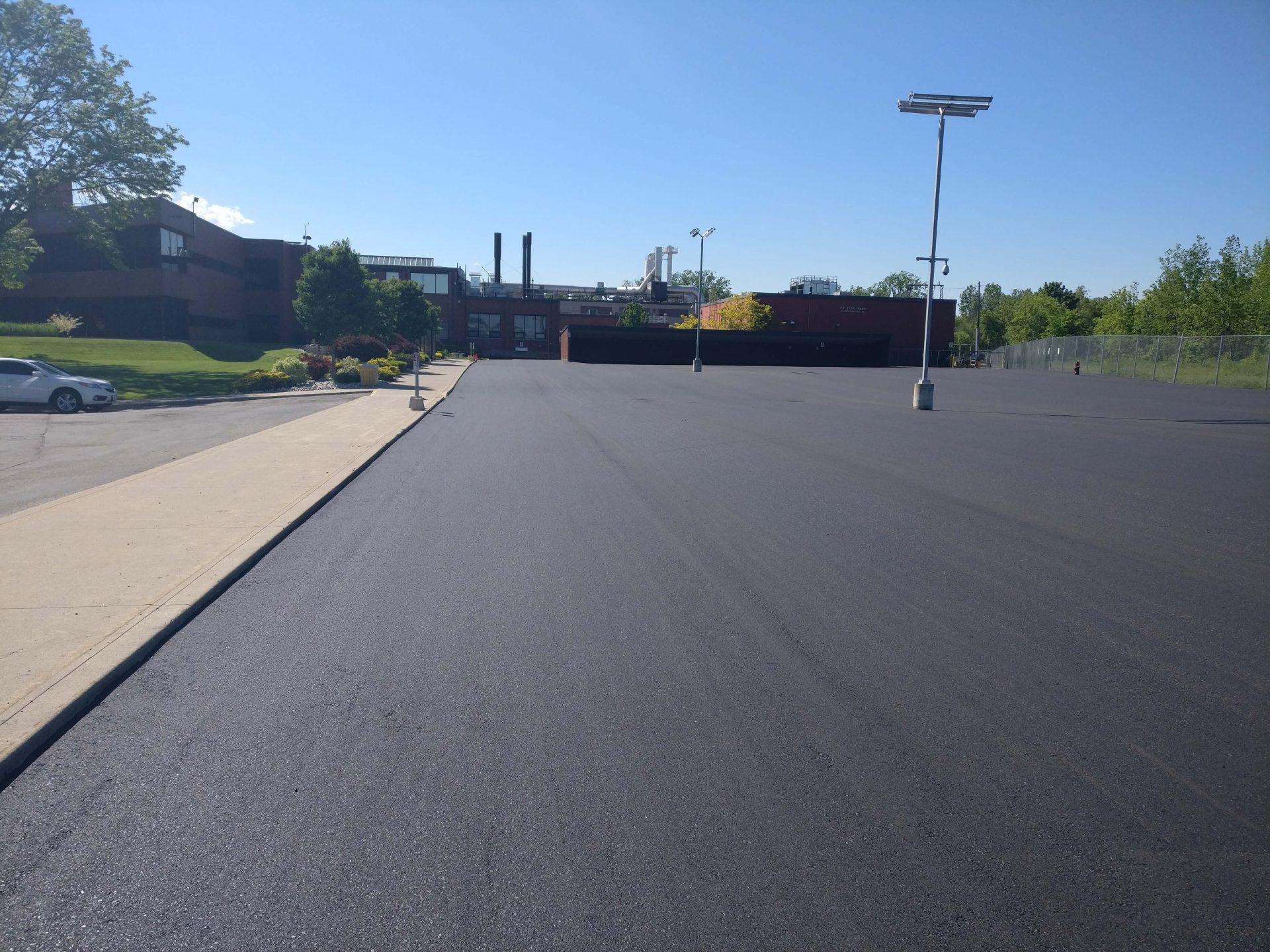Fully completed parking lot by Paris Construction