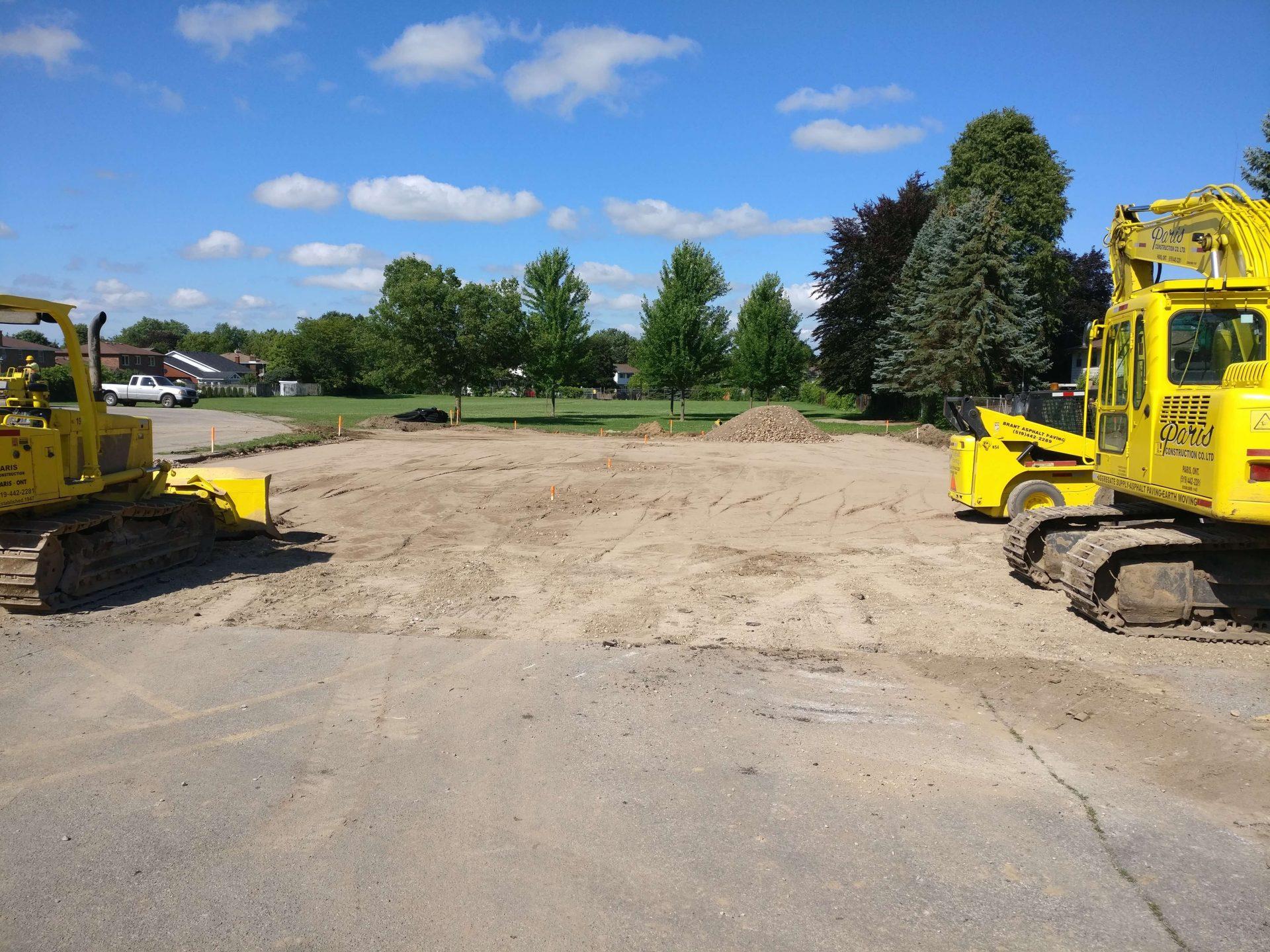 gravel unfinished parking lot