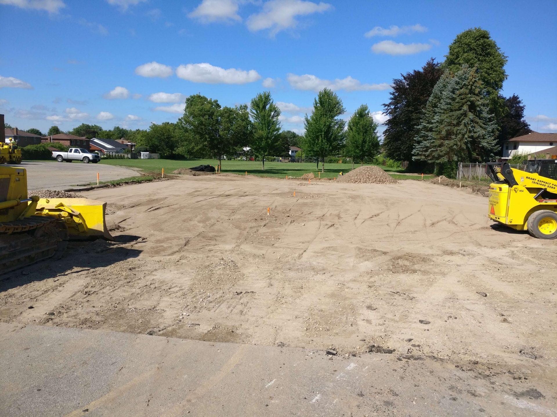 gravel parking lot with Paris Construction