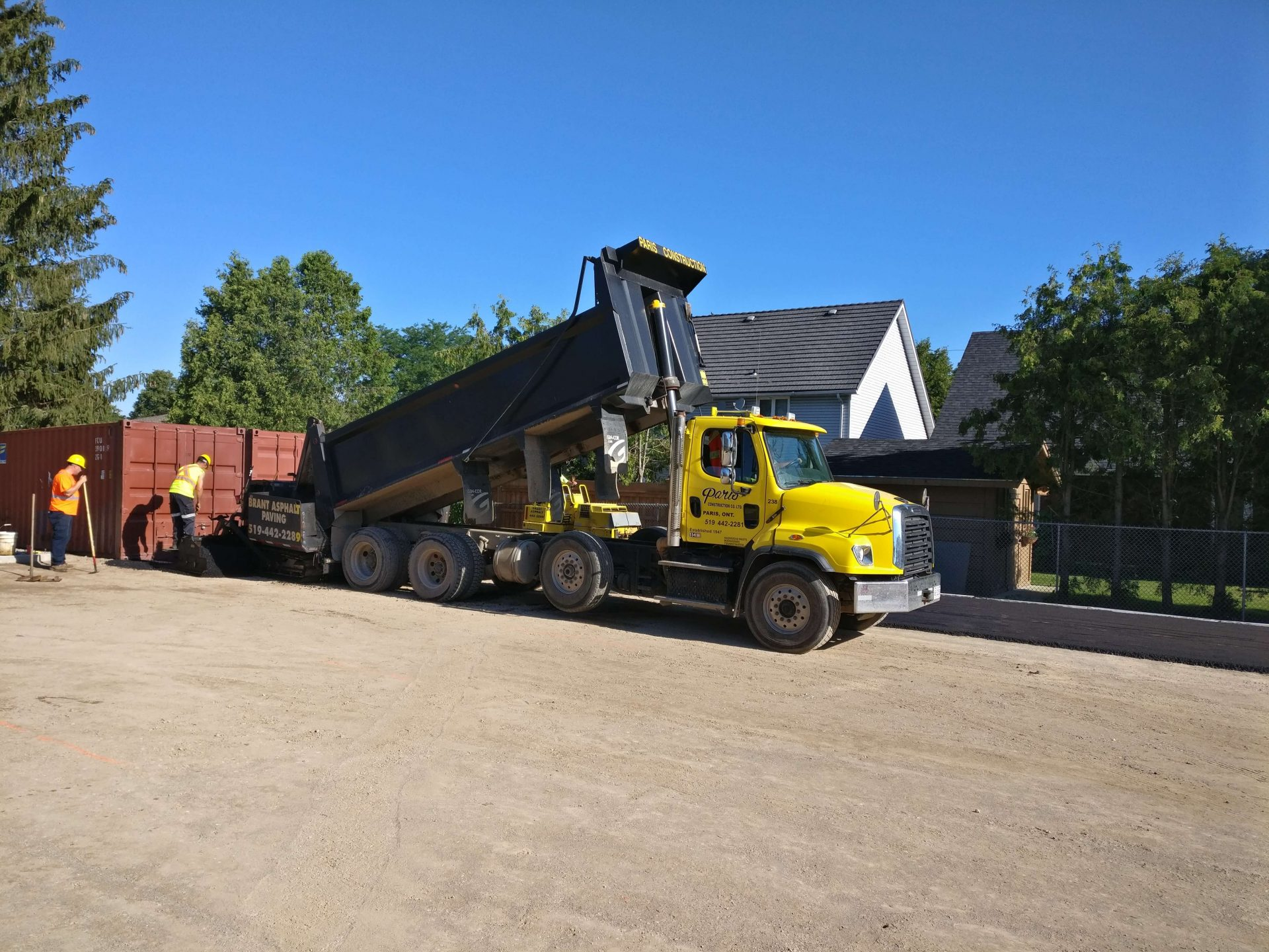 Paris Construction starting paving operations