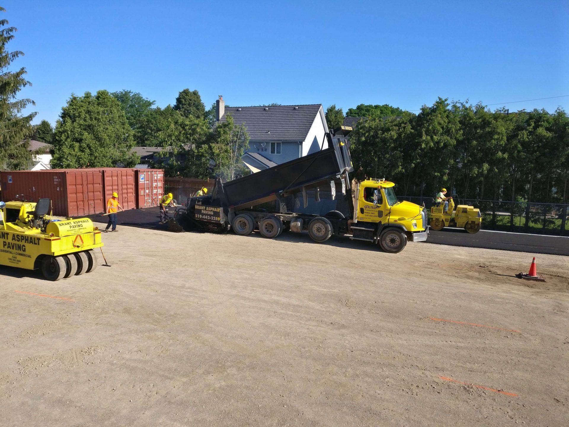 Paris Construction dump truck