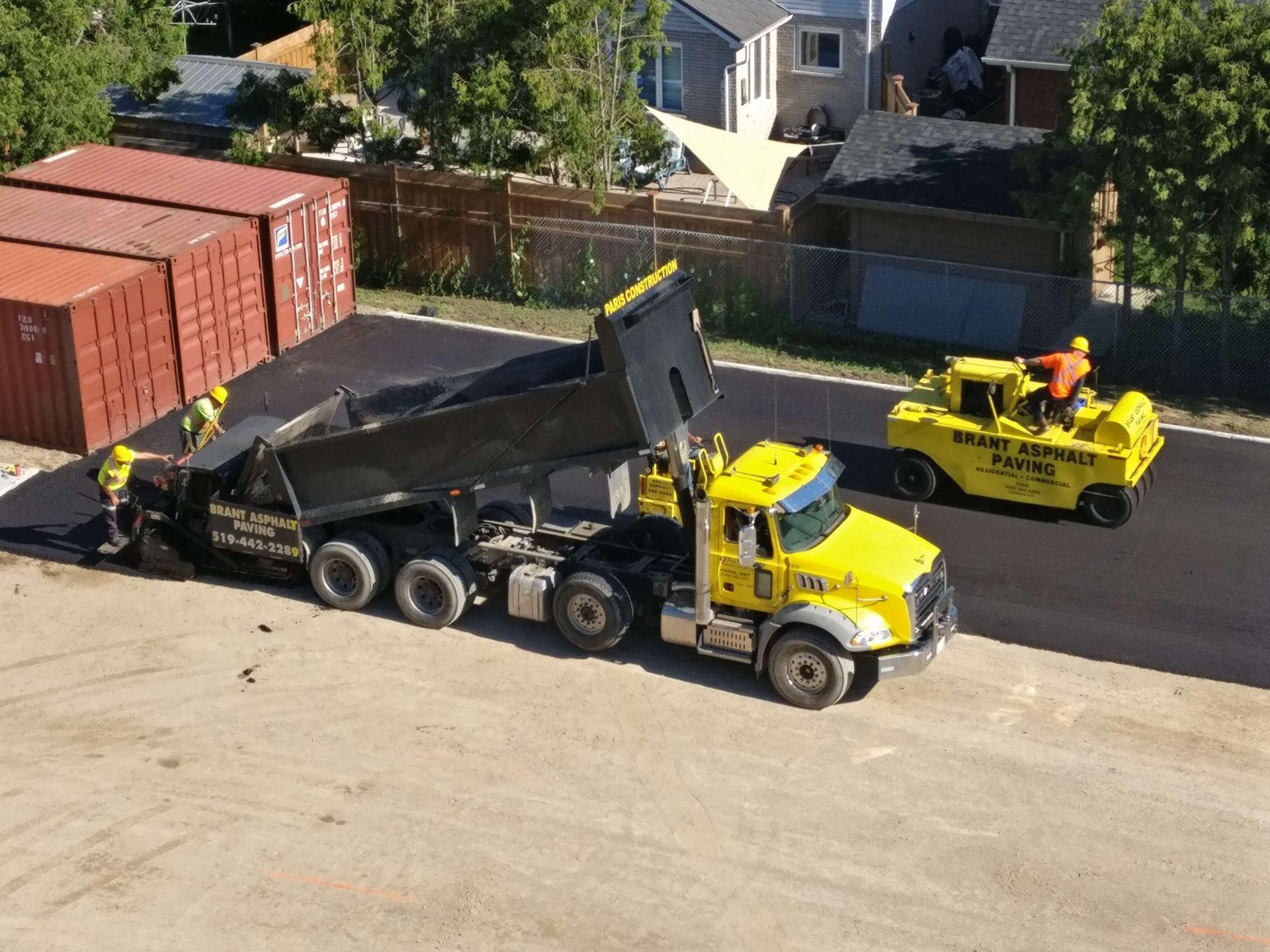 Paris Construction asphalt truck