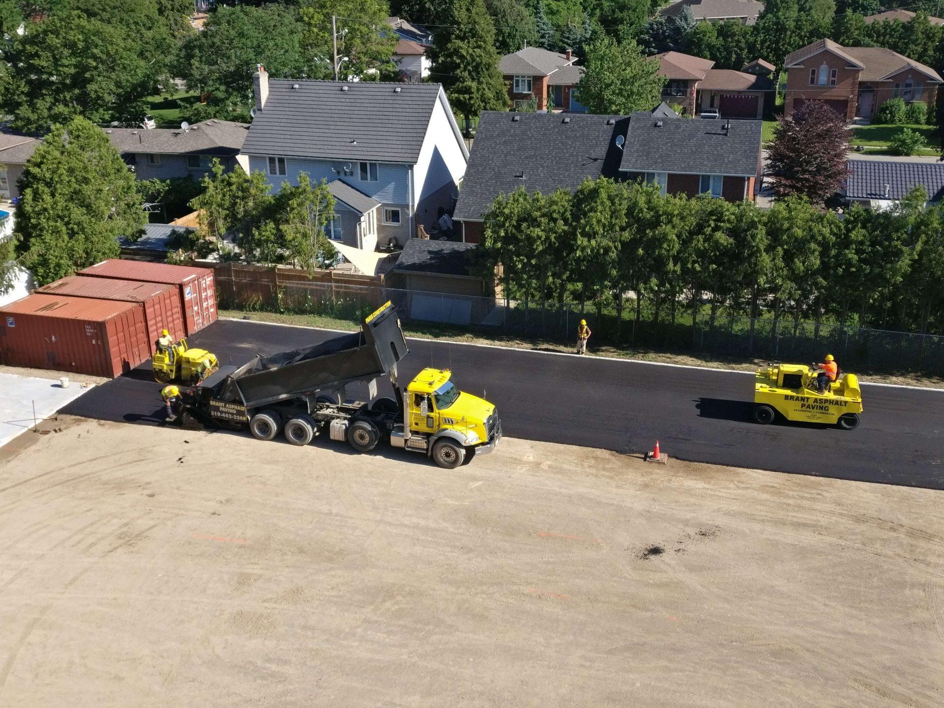 Paris Construction starting paving work