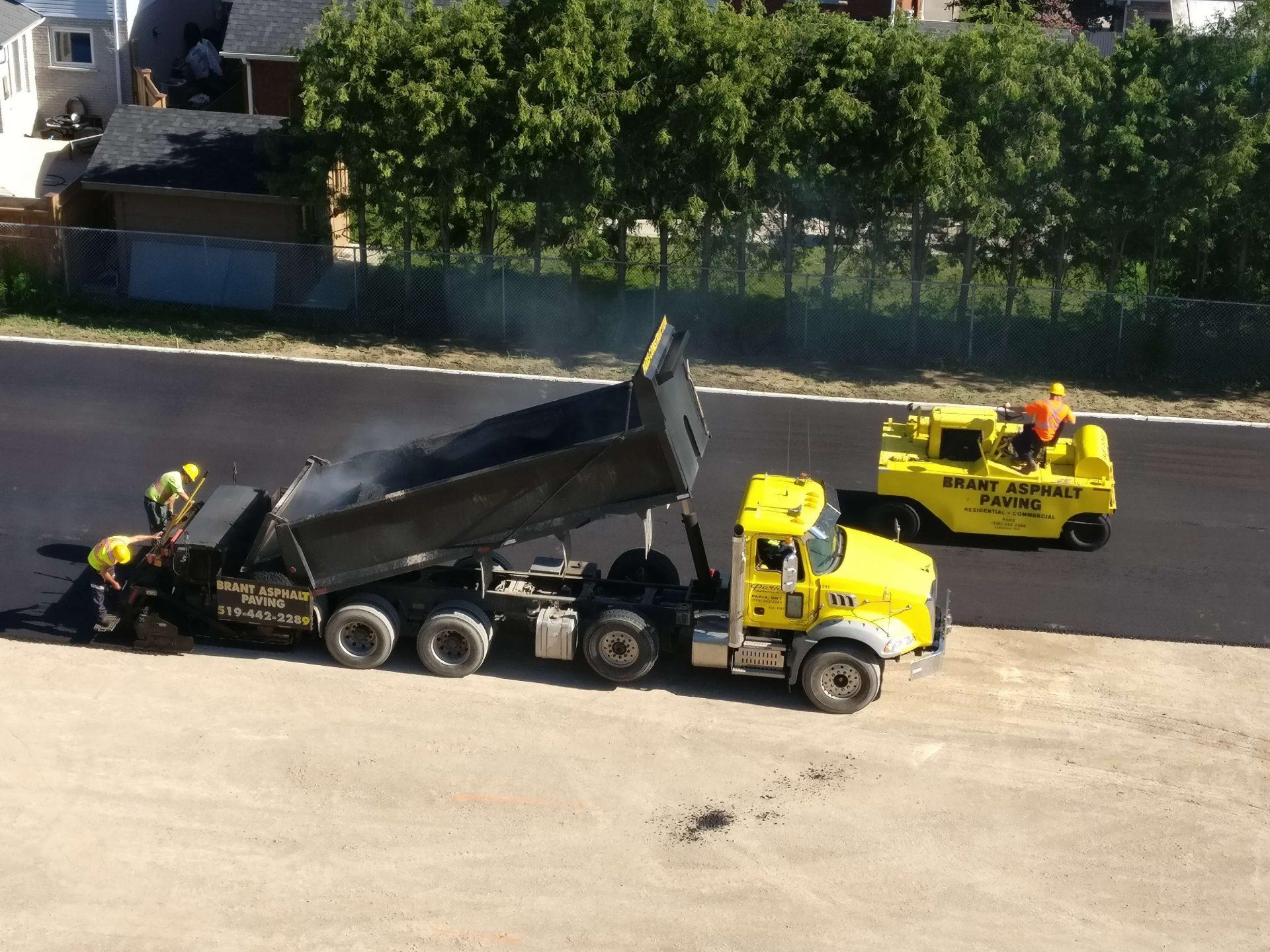 Brant Asphalt paving for back parking lot