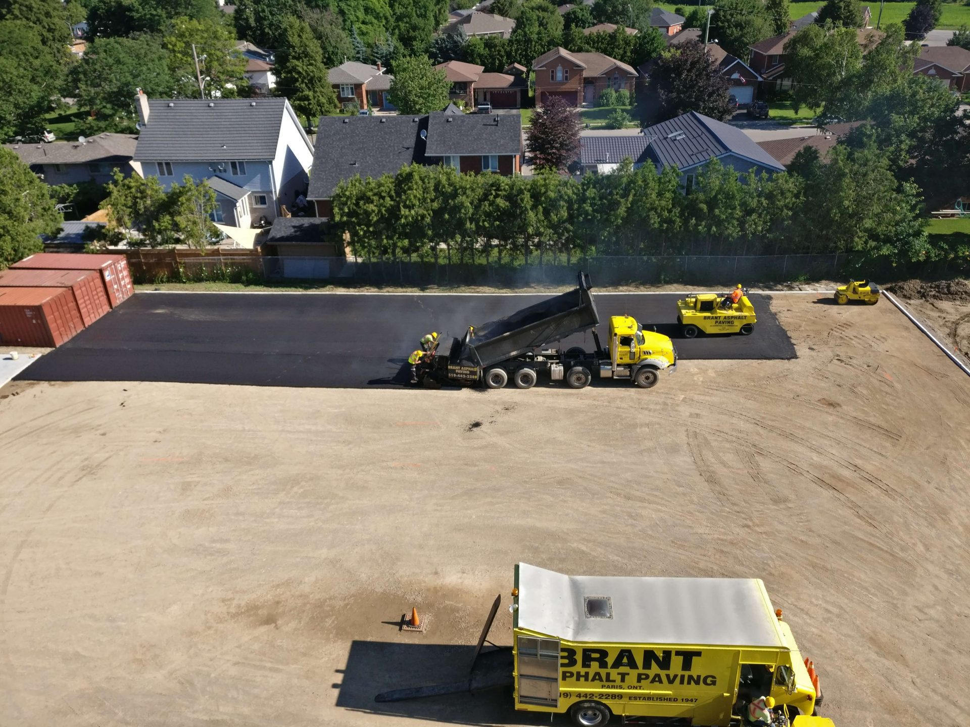 Beginning of paving process by Paris Construction