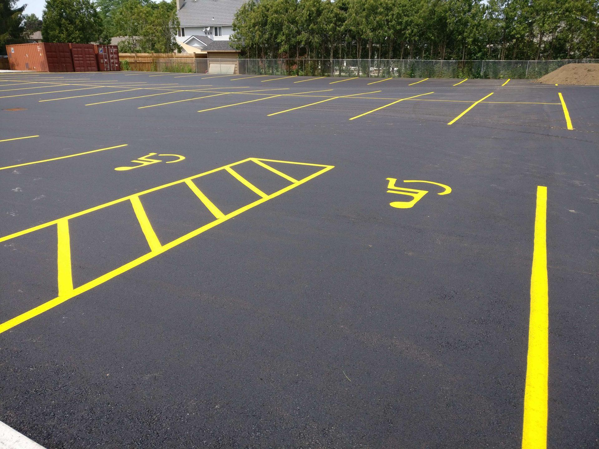 parking lot handicap spaces