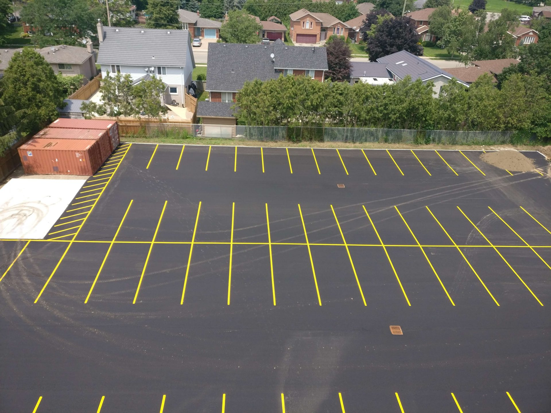 Parking lot completion by Paris Construction