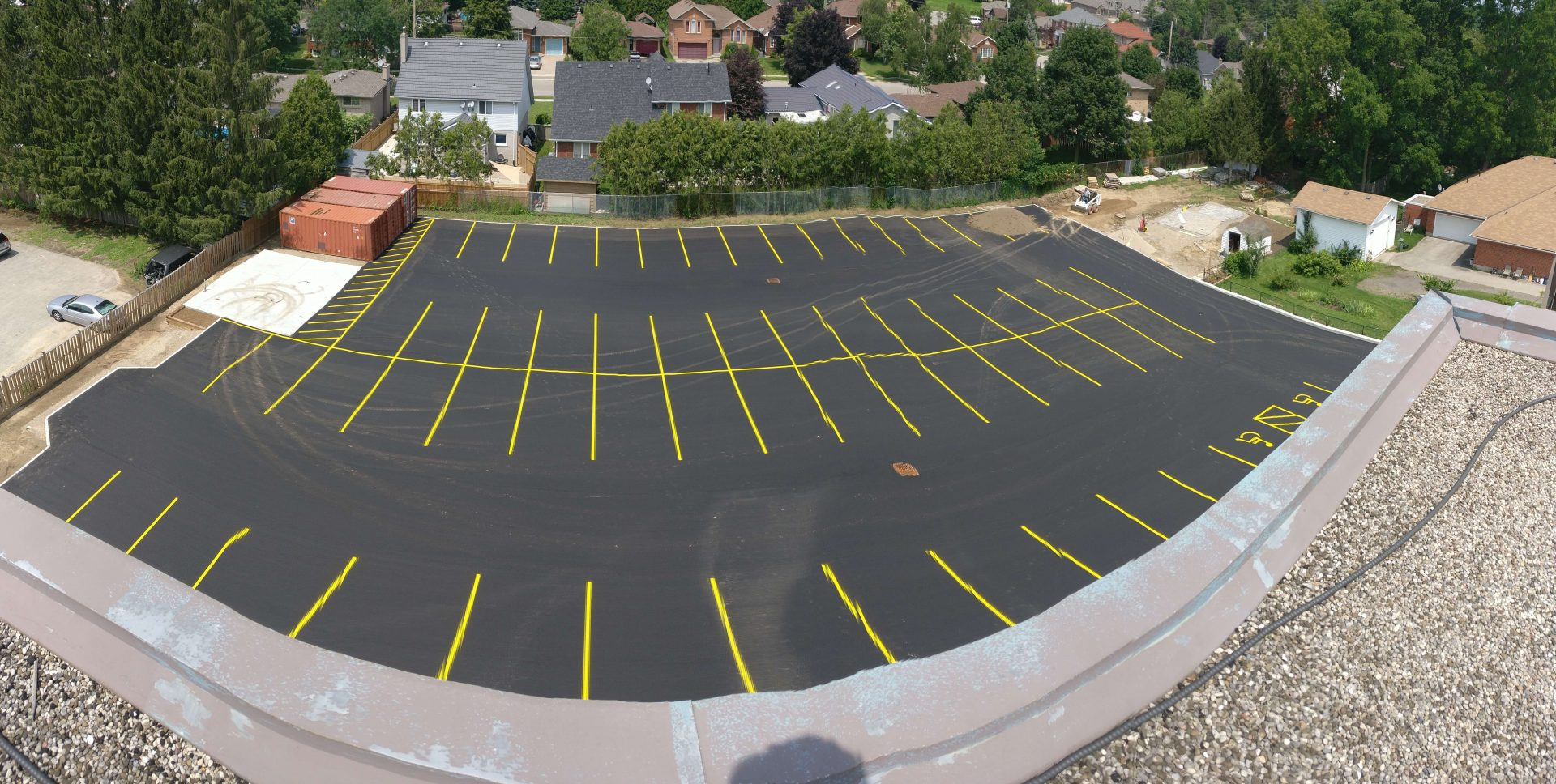 Completed parking lot by Paris Construction