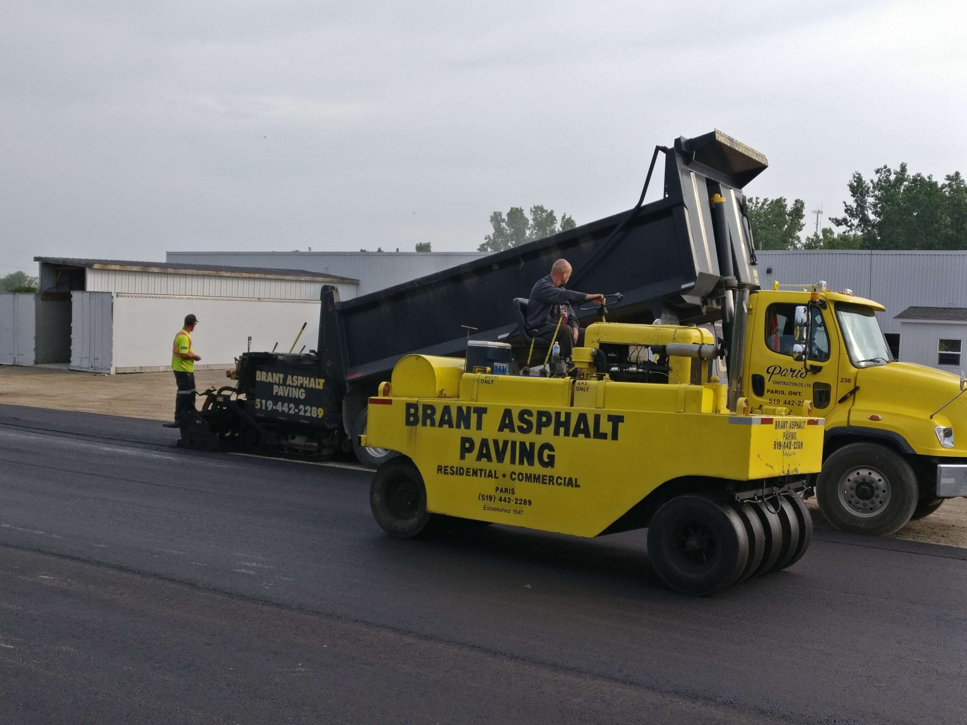 Brant Asphalt Paving commercial trucks