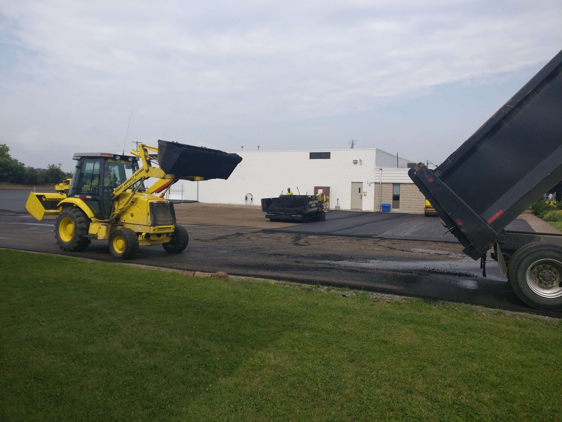 transfer of asphalt for parking lot