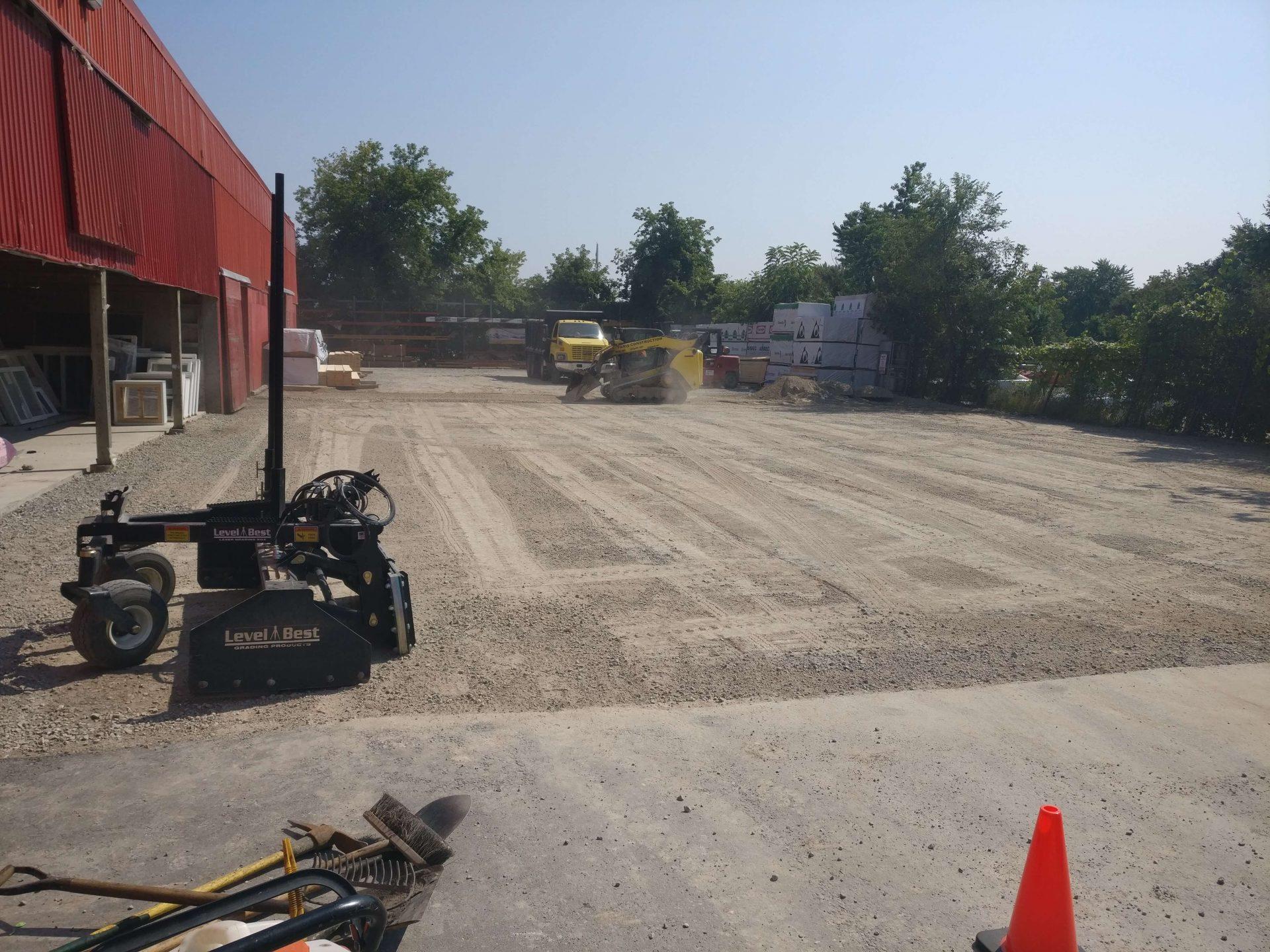 gravel preparation for asphalt implementation