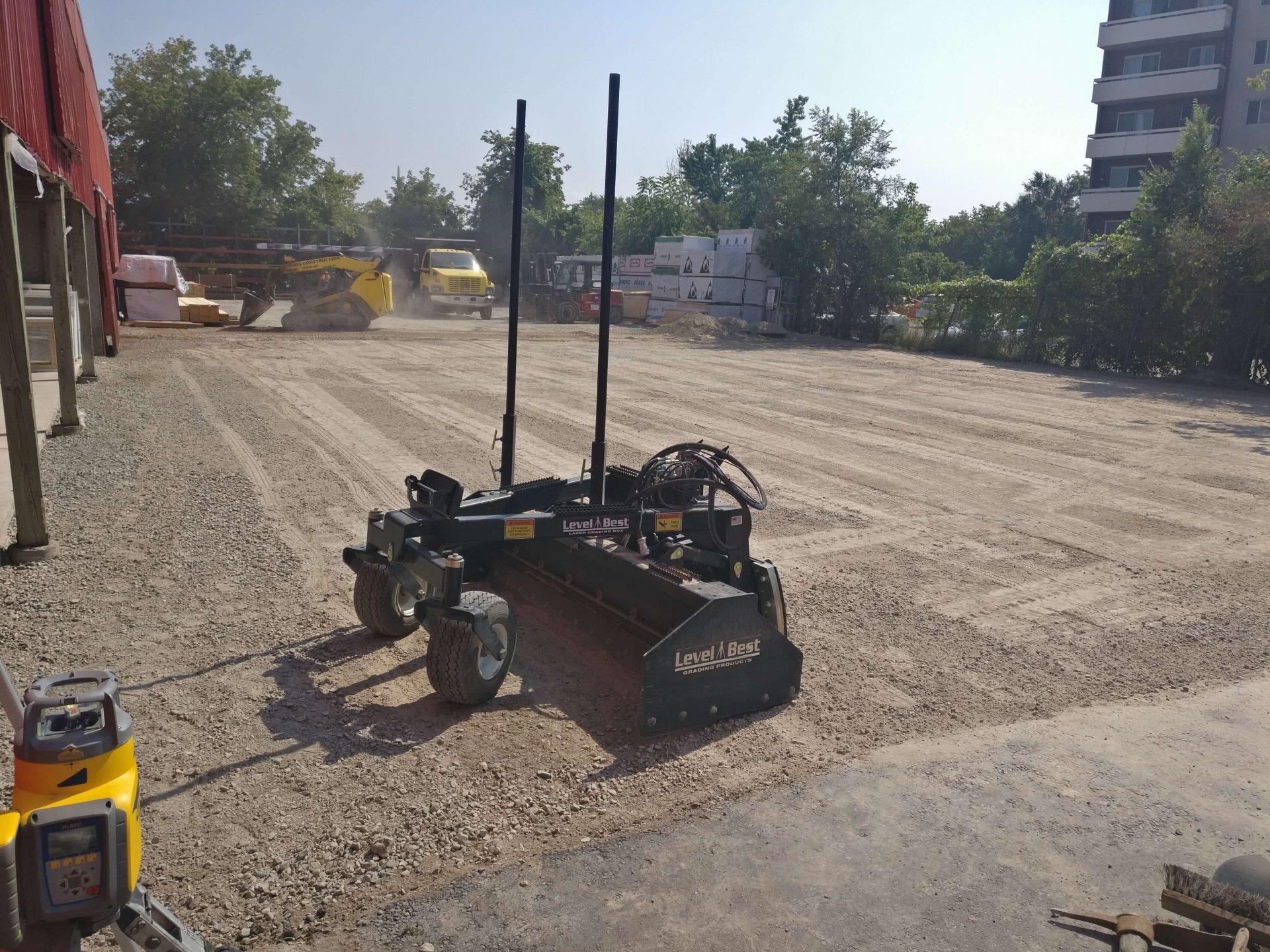 beginning process for asphalt lot