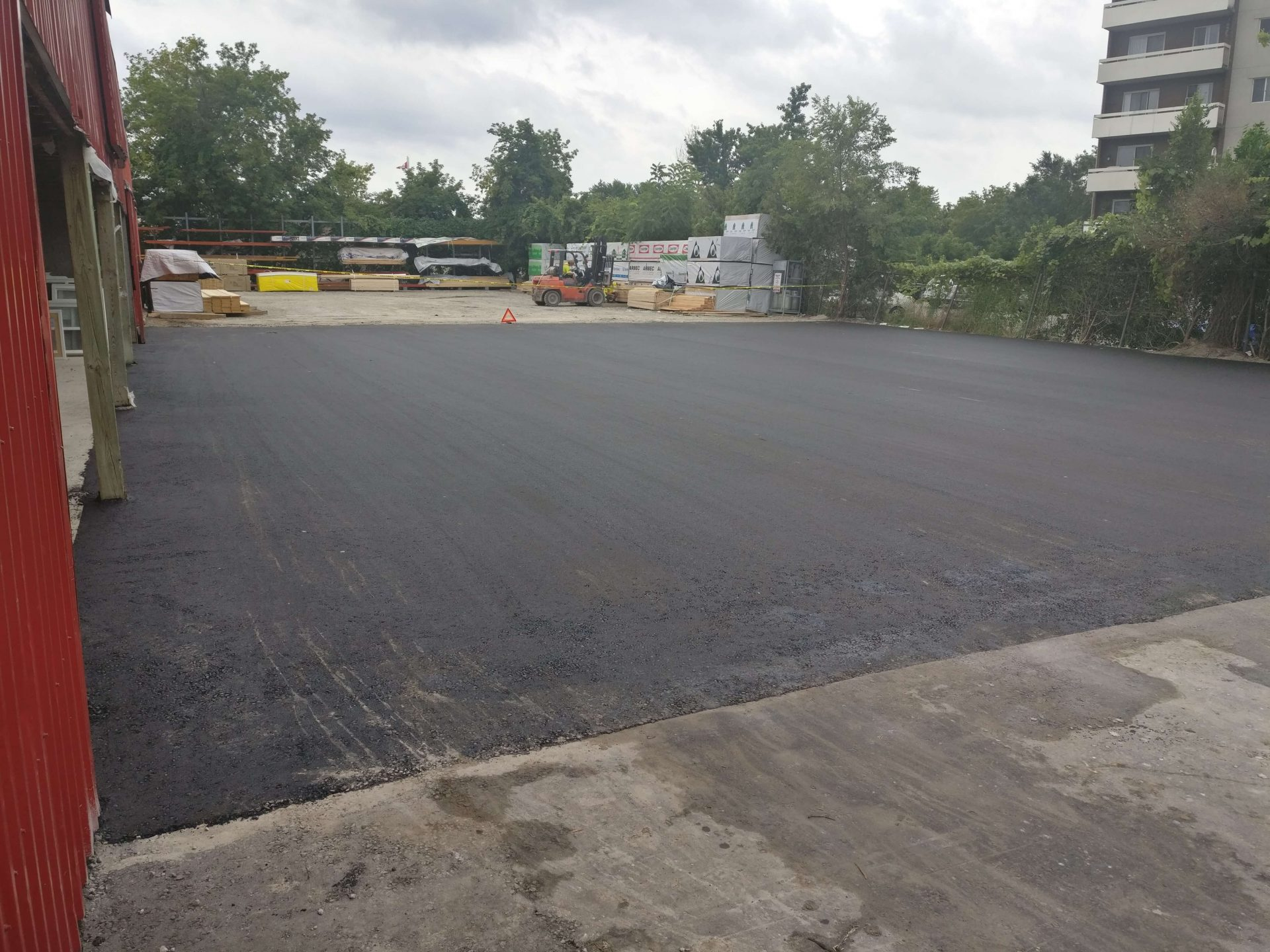 paved asphalt finished product