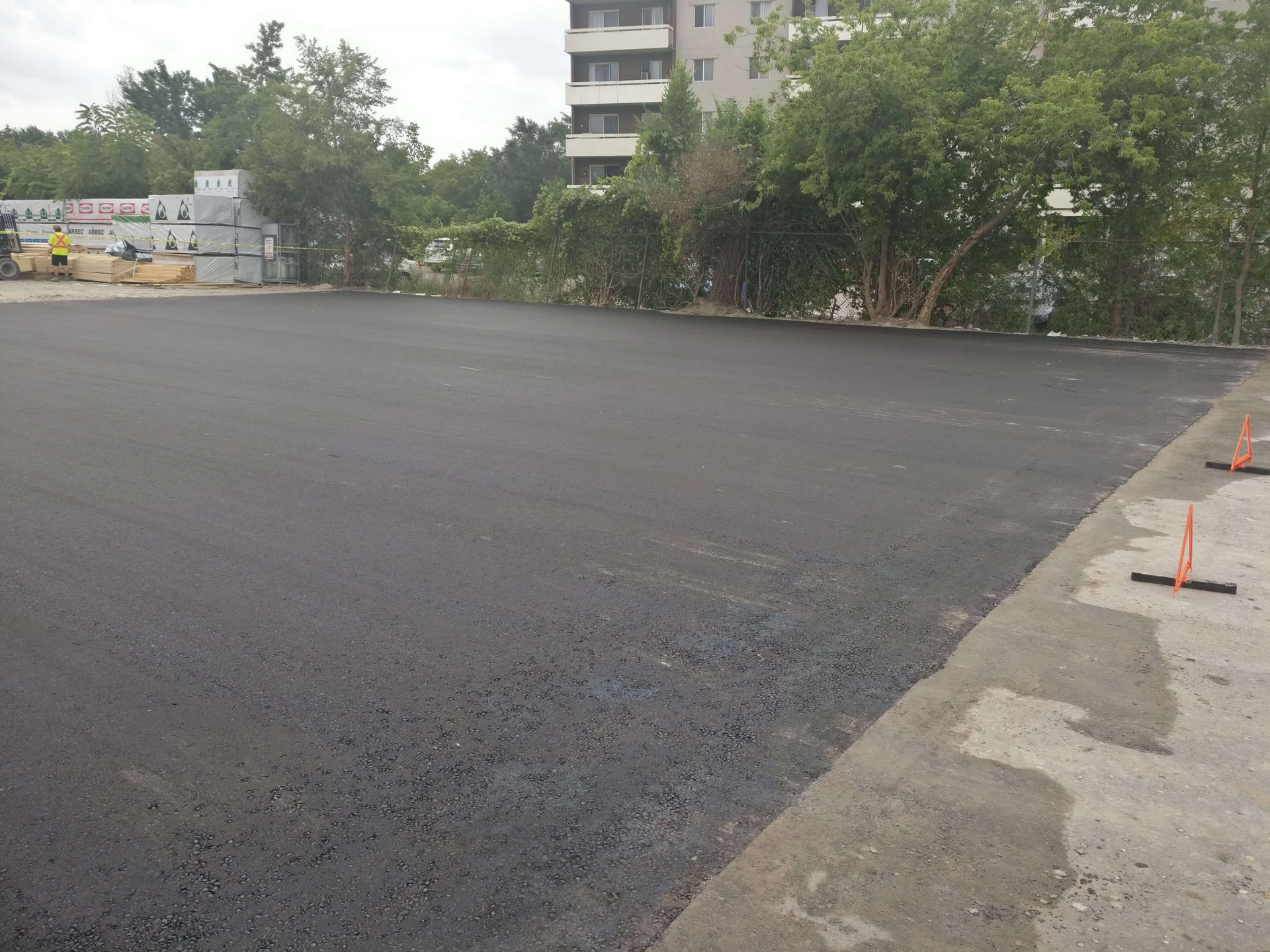 paved asphalt parking lot