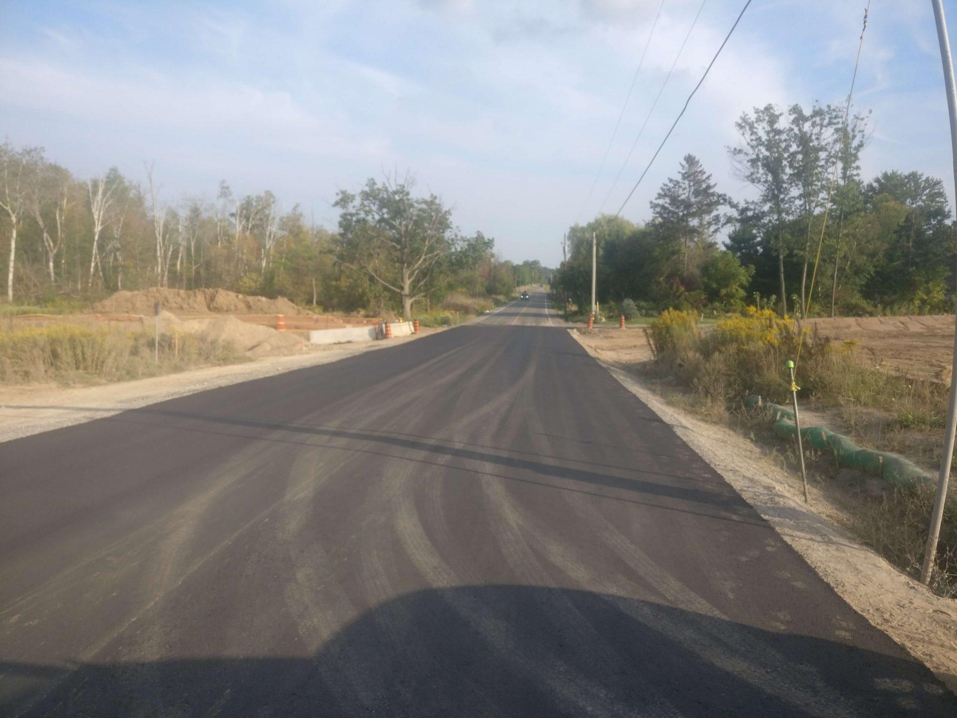 Country road repaving