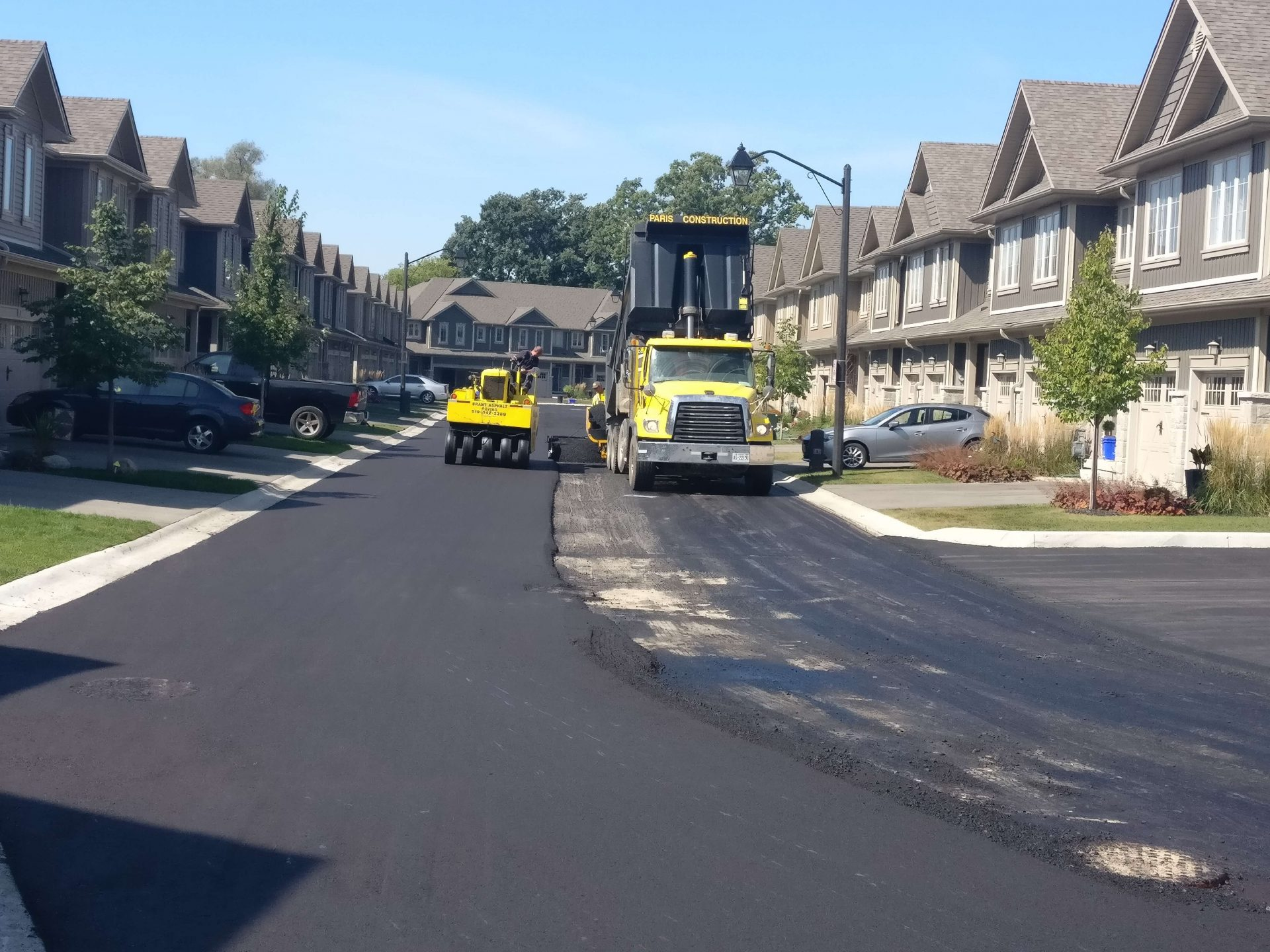 Neighbourhood street paving